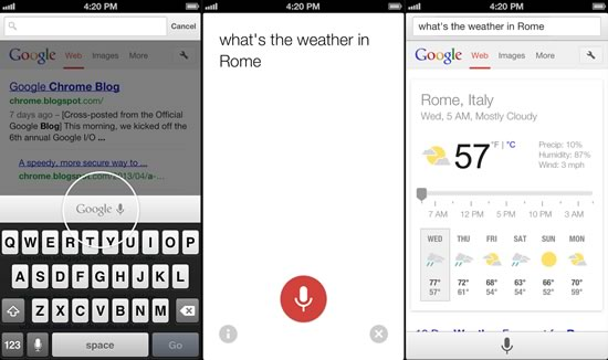 Chrome for iOS - Voice-Search