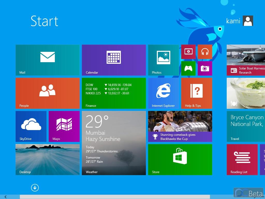 Активация Windows 8.1 Professional Build 9431