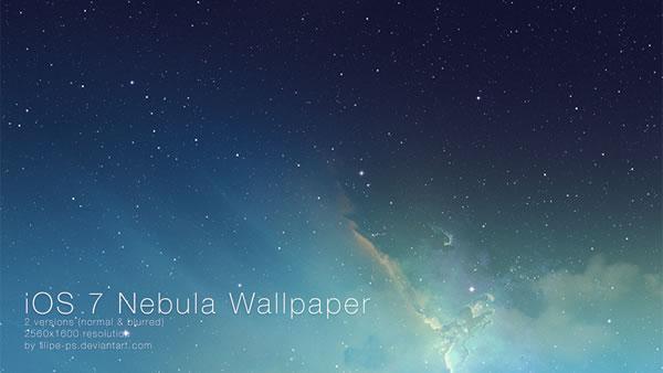 「iOS 7」の星雲の壁紙を「OS X」に