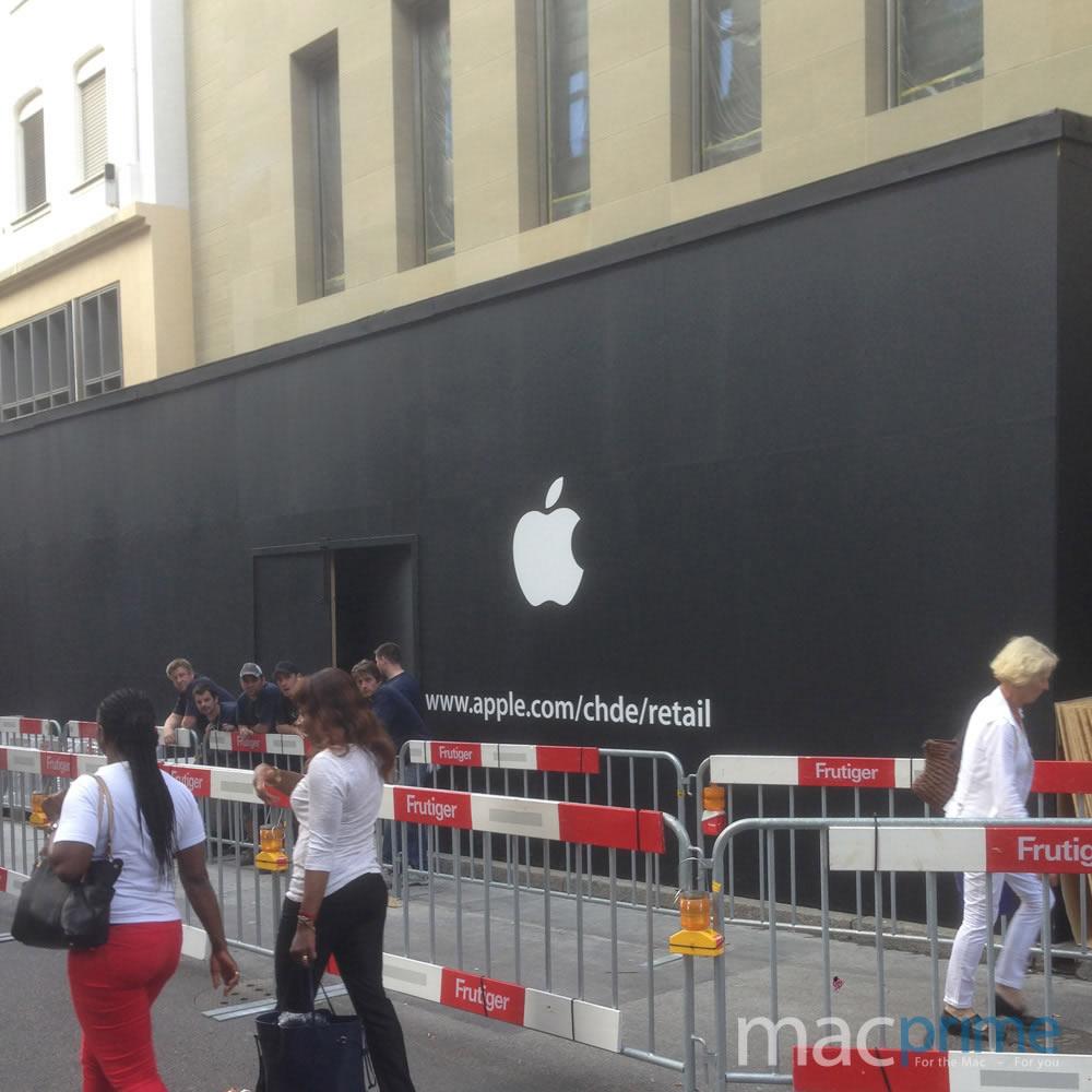 Apple-Retail-Store-Basel-Bauarbeiten-Logo-Schriftzug