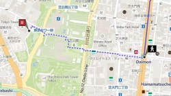 BingMapsExpandsTransitFeaturesinJapan-DetailedWalkingInstructionsTokyoTower