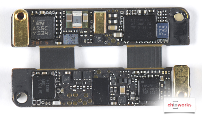 03 Chipworks Apple Pencil Teardown semiconductor board shot back side