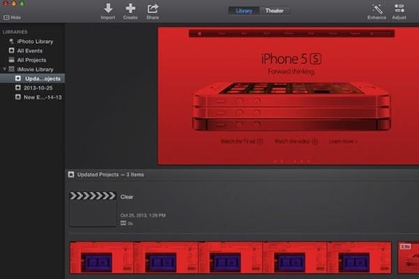 最新の「iMovie」にMOV形式の動画が赤くなってしまう不具合か
